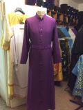A purple cassock with an embroidered waistband, synthetic — 7 000 rubles